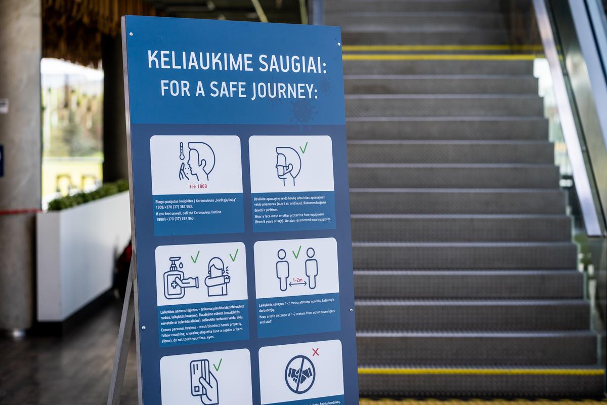 Oro uoste privaloma dėvėti asmens apsaugos priemones